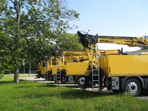 AMF Umbau mit ATLAS 210.1 Kran